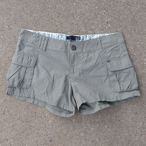sage green FOX low rise cargo shorts 5